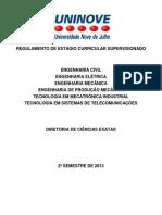 Regulamento Estágio 2013 2