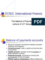 EC563 Lecture 1 - International Finance