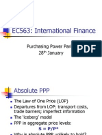 EC563 Lecture 2 - International Finance
