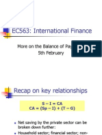 EC563 Lecture 3 - International Finance