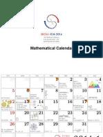 Calendar ICM2014