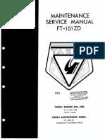 YAESU FT 101ZD Service Manual
