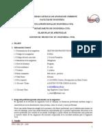 Spa Gestión de Proyec. en Ing. Civil 2014-2 Grupo O