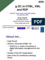 Encoding Dc in HTML, XML and Rdf