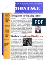 Montage Chavalit Law Group Newsletter Volume 1, Issue 1, March 2009