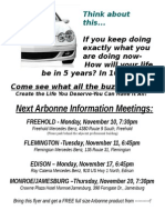 upcoming meetings w free product incentive