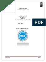 Internship Report Tyre Company