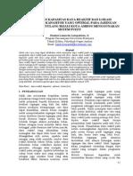 Penentuan Kapasitas Daya Reaktif Dan Lokasi Penempatan Kapasitor Yang Optimal Pada Jaringan Distribusi Penyulang Rijali Kota Ambon Menggunakan Sistem Fuzzy