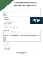 Prova de Matemática Ime Fase 1 2013-2014