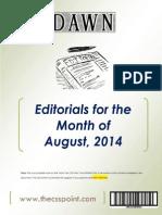 DAWN Editorials - August, 2014