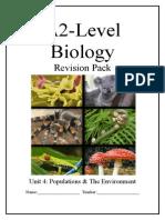 Biology AQA Unit 4 Notes