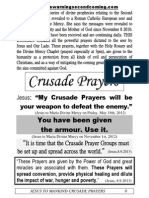 CRUSADE of PRAYERS 1-170 Litany 1-6 for the Key to Paradise for Distribution