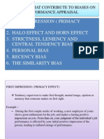 Elements That Contribute to Biases on Performance Appraisal - Ppt