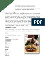 Alimentación Típica de La Festividad Del Corpus Christi