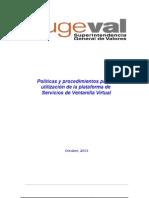 Políticas y Procedimientos Para La Utilización de La Plataforma de Servicios de Ventanilla Virtual