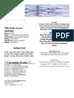Third Grade Newsletter12!7!092