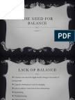 the need for balance