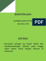 Barotrauma IZA