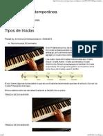 Tipos de Triadas _ Armonía Contemporánea