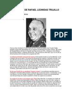 Vida y Obra de Rafael Leonidas Trujillo Molina