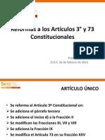 Presentación Art. 3o. y 73 Final