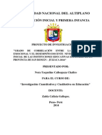 Proyecto de Investigacion de La Maestria