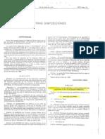 Uniformidad FAS 1989. OM 6-1989 (BOD)