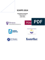 SCAPPS 2014 Conference Program