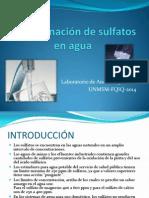 Determinación de Sulfatos en Agua