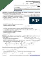 matemática diagnóstico 1