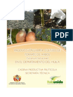 Cultivo Tomate de Arbol