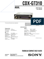Sony Cdx-gt310 Ver-1.3 Sm