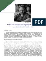 Lettre Aux Paysans (Jean Giono)