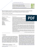 Pharmacological, Genotoxic and Phytochemical Properties of Selected South