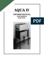 Aqua D Owners Manual