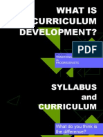 What is Curriculum Development