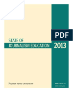 State of Journalism Education 2013