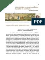 Subsídios para a história da alimentação no município de Campinas