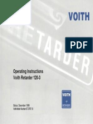 Transmissão Voith Retarder 120-3 57 Pag  | Turbine | Vehicle