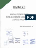 COMUNICADO CAS N° 007-2014 DIRESA (1)