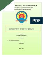 Monogrfafia de El Mercado y Clases de Mercado