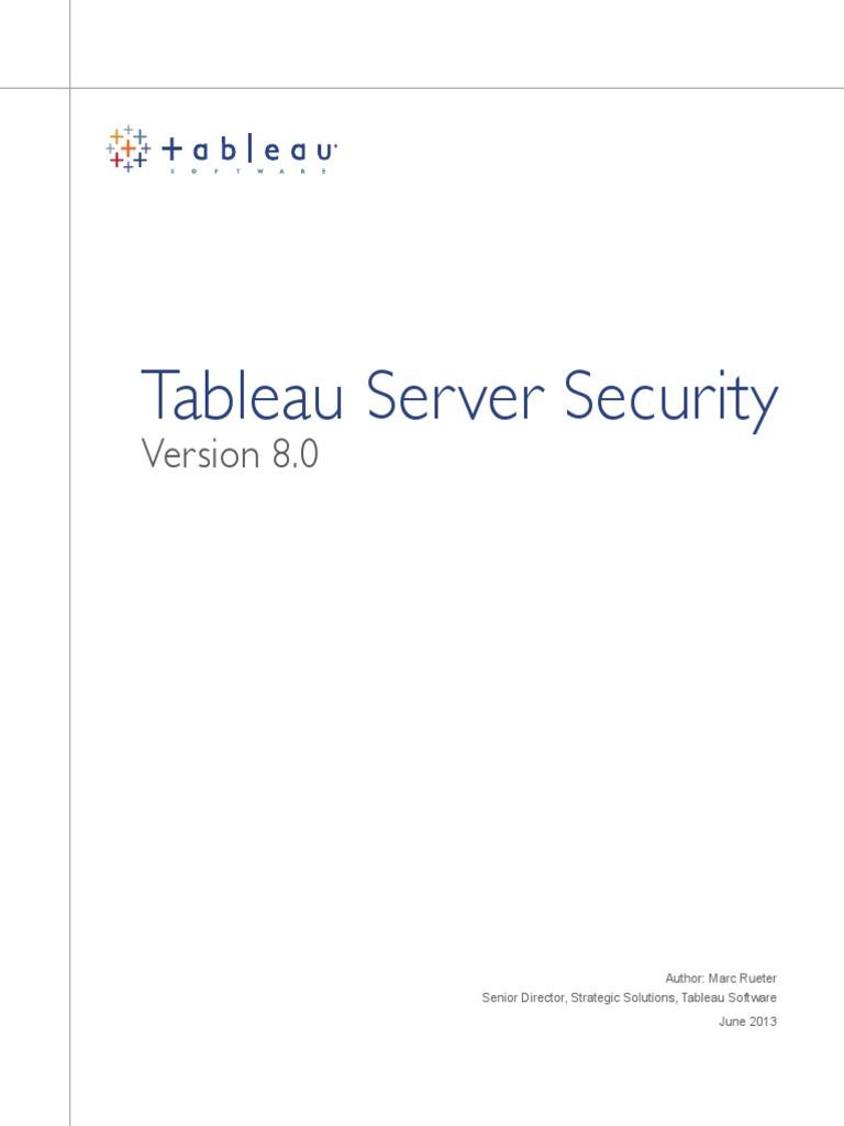 Tableau Server Security 8 | Transport Layer Security | Login
