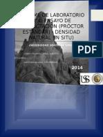 Proctor Modificado, Densidad in Situ - Saavedra Salazar Luis