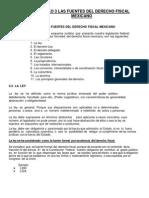 Capitulo 3 Las Fuentes Del Derecho Fiscal Mexicano