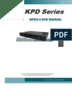 KPD Series MPEG4 DVR 616 616F 608 608F 604 604F manual V1.5