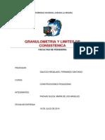 Granulometria y Limites de Consistencia FINAL