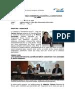 Relatoria Foro Medio Ambiente y Lucha Contra La Corrupci n 2007