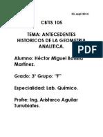 Antecedentes Históricos de La Geometría Analítica.