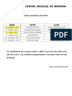 ACTES BANDA Previstos Pel 2014 (1)