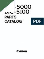 Canon BJC-5000, 5100 Parts Manual